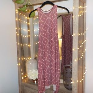 Maroon Patterend Urban Outfitters Mini Dress